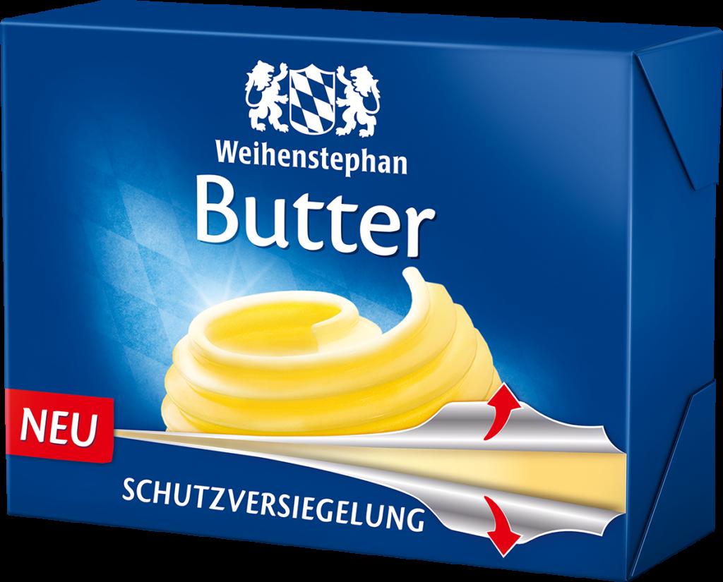 Butterverpackung freshpack von weihenstephan