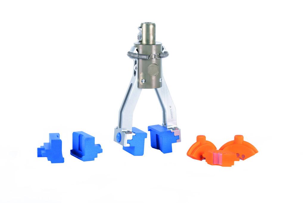 3D-Formatteile an Greifwerkzeug