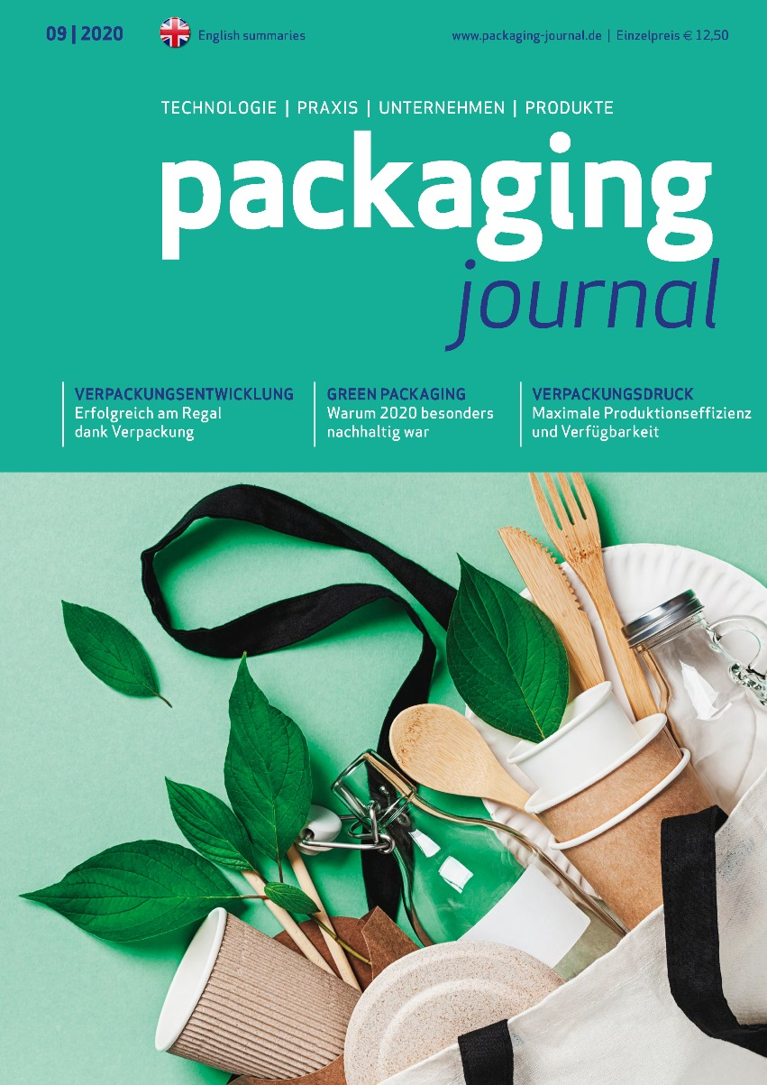 Titelbild packaging journal Dezemberausgabe 2020