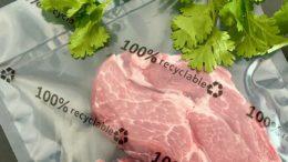 Fleisch in einem recyclingfähigem Vakuumbeutel von allfo