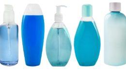 verschiedene Kosmetik Kunststoffflaschen
