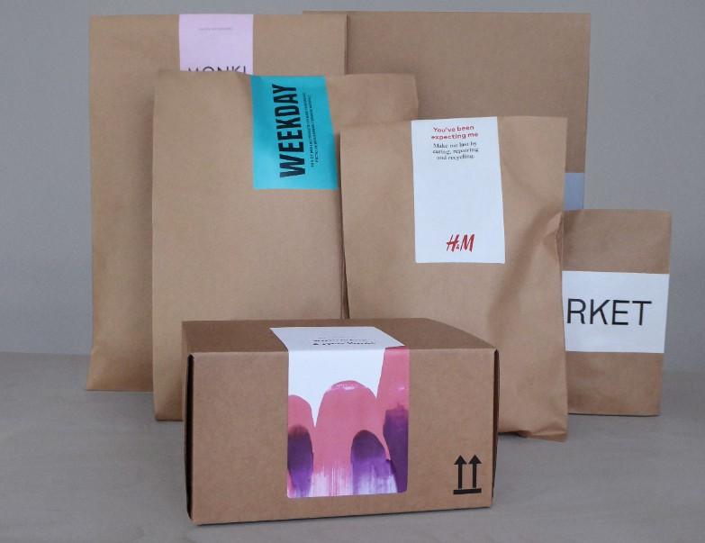 Papierverpackungen der H&M Marken
