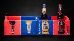 Aufklappbarer Getränkekühler aus Karton