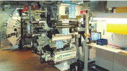 Flexodruckmaschine für bis zu acht Farben bei snakeprint
