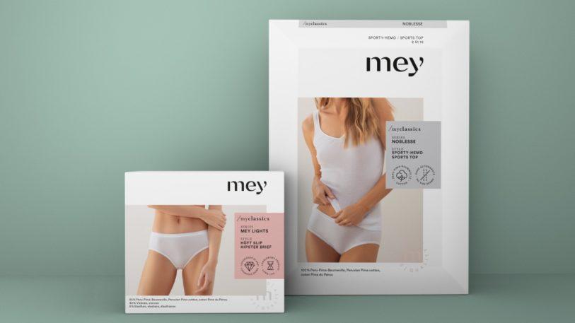 Verpackungsdesign für Wäsche von Mey