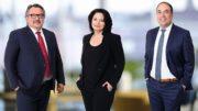 Die Mosca-Geschäftsführung bestehend aus Timo Mosca, Simone Mosca und Alfred Kugler (von links).
