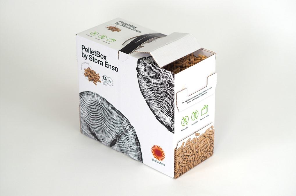 Pelletverpackung aus Karton