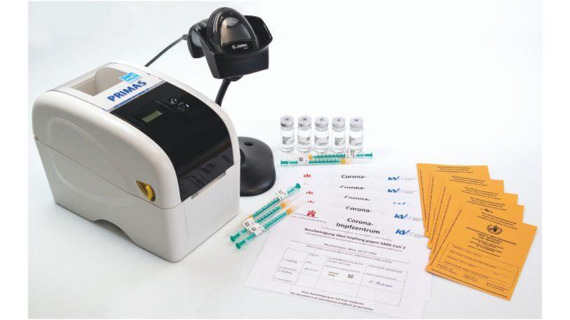 Etikettendrucker für Impfstoff-Kennzeichnung