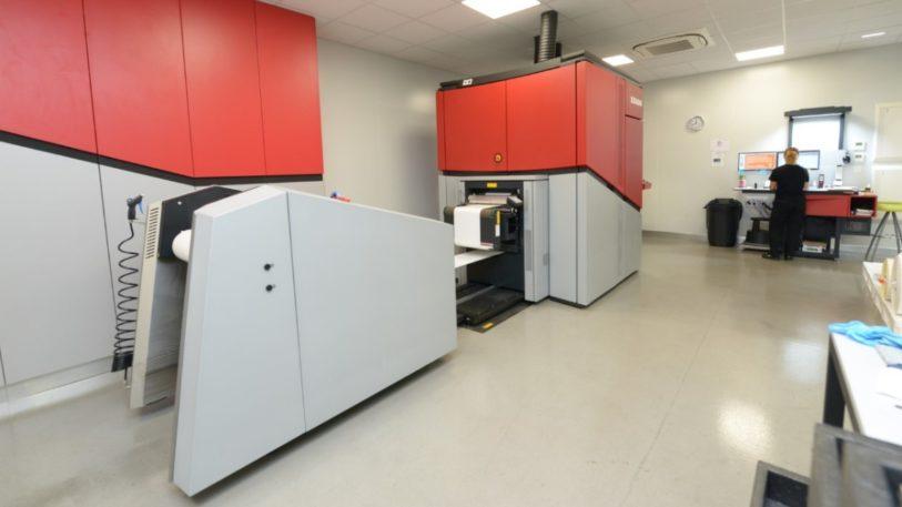 Xeikon CX3 digitale Etikettendruckmaschine bei Interprint