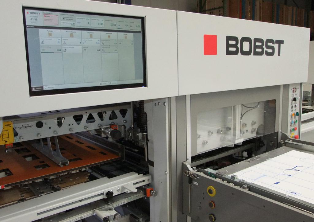 Benutzerschnittstelle mit Touch-Screen-Bildschirm von Bobst