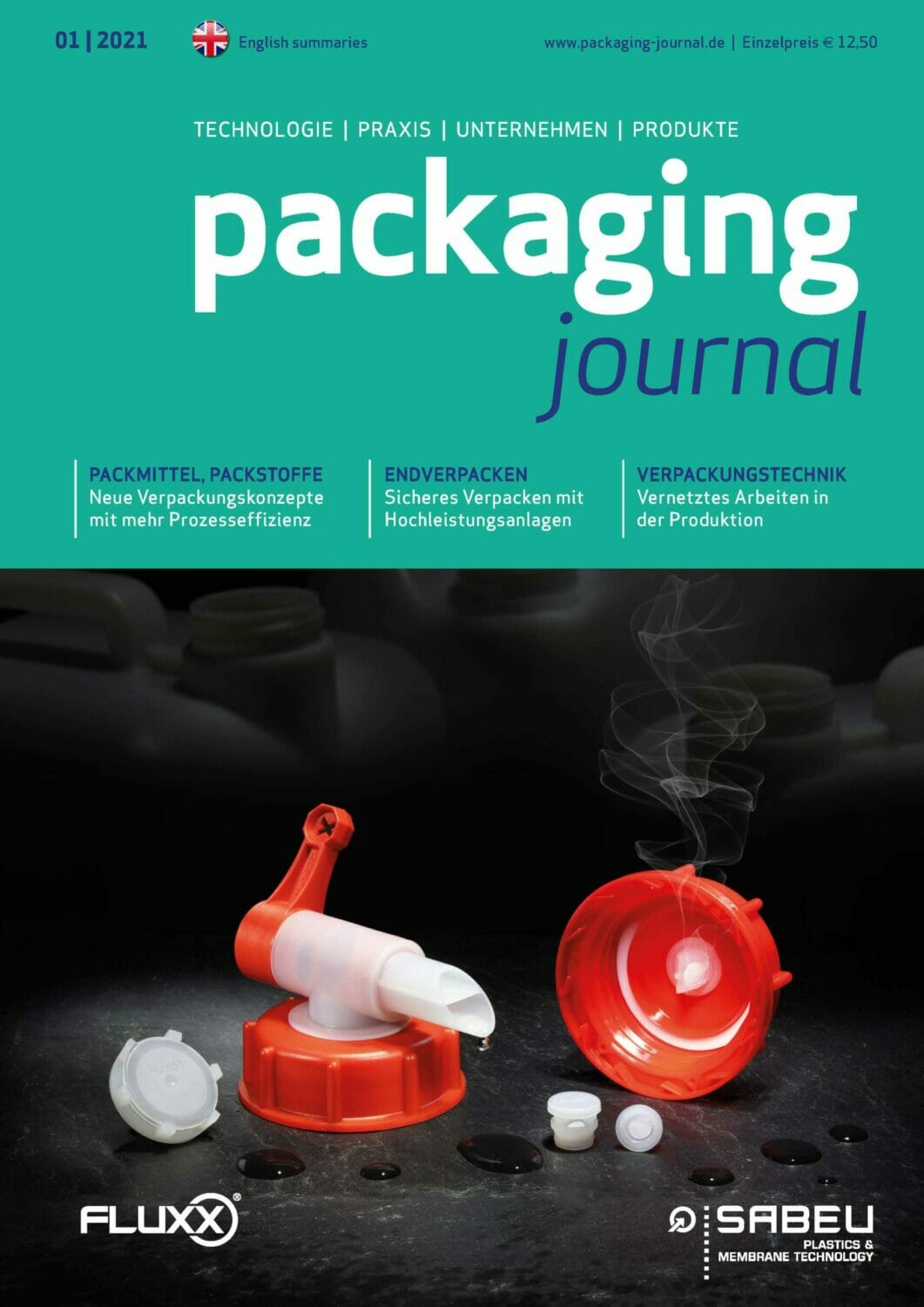 Titelbild packaging journal Februarausgabe 2021