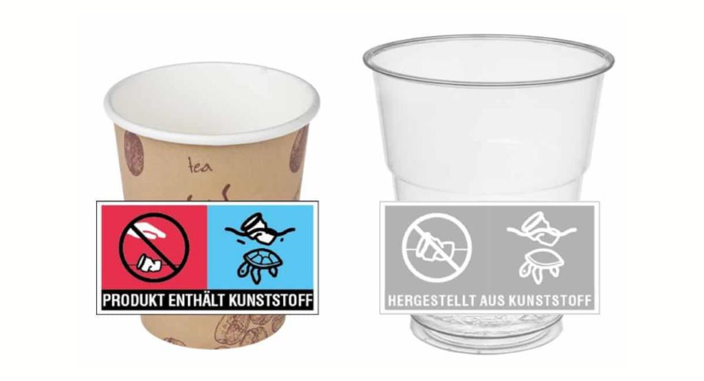 neue Kennzeichnungsregeln für Kunststoffbecher