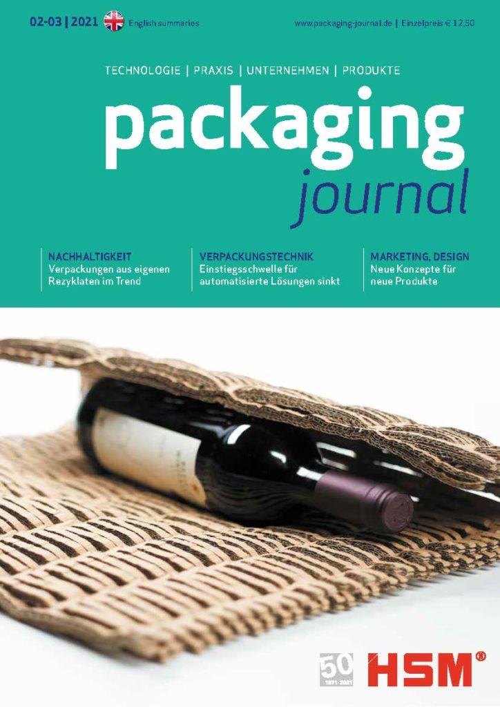Titelbild packaging journal Aprilausgabe 2021