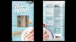 Multivac Full-Wrap-Etikettierung von Fischverpackung
