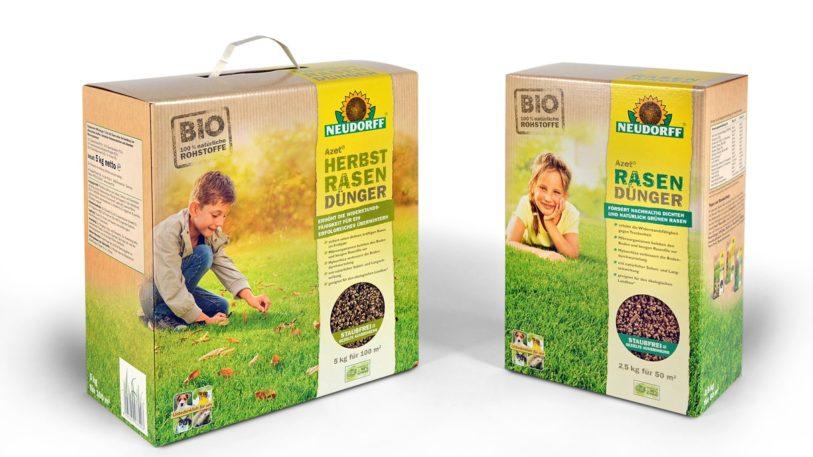 nachhaltige Dünger-Verpackung für Neudorff