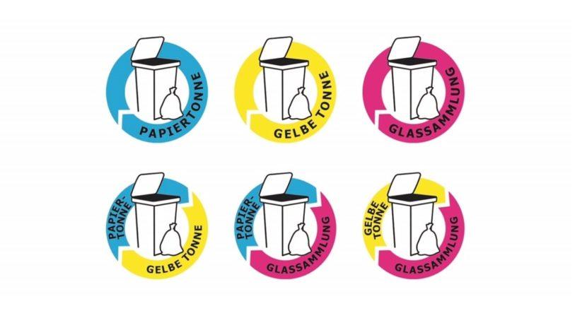 Die Trennhinweise klären darüber auf, in welche Sammelsysteme die jeweilige Verpackung zu entsorgt ist. Auch eine Kombination von Materialarten lässt sich mit dem Verpackungslogo abbilden.