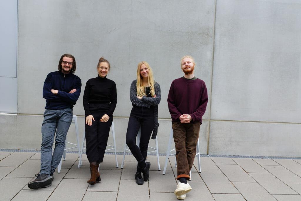 Das Proservation-Team: v. l. Nils Bachmann, Lisa Antonie Scherer, Sophia Scherer, Henning Tschunt. (Bild: Proservation)