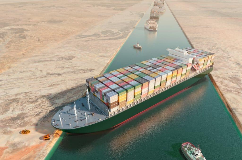 """Die Havarie des Containerschiffs """"Ever Given"""" im Suezkanal hatte Auswirkungen auf die globale Logistikkette."""