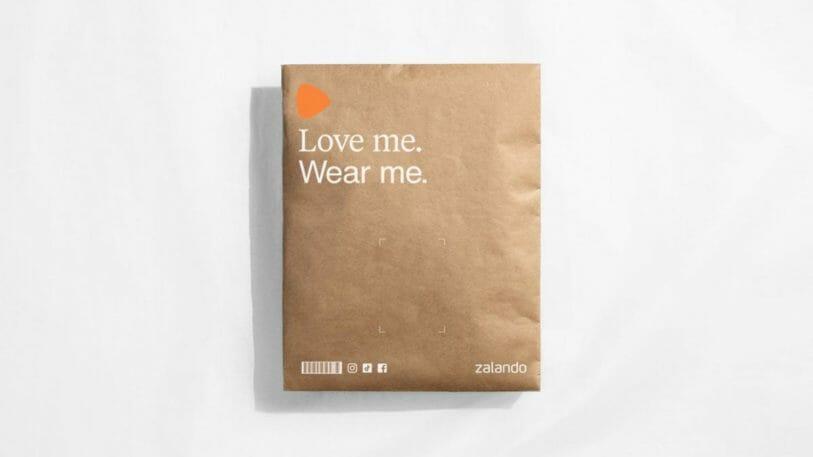 Die neuen Zalando-Versandtaschen sind aus FSC-zertifiziertem und recycelbarem Papier.