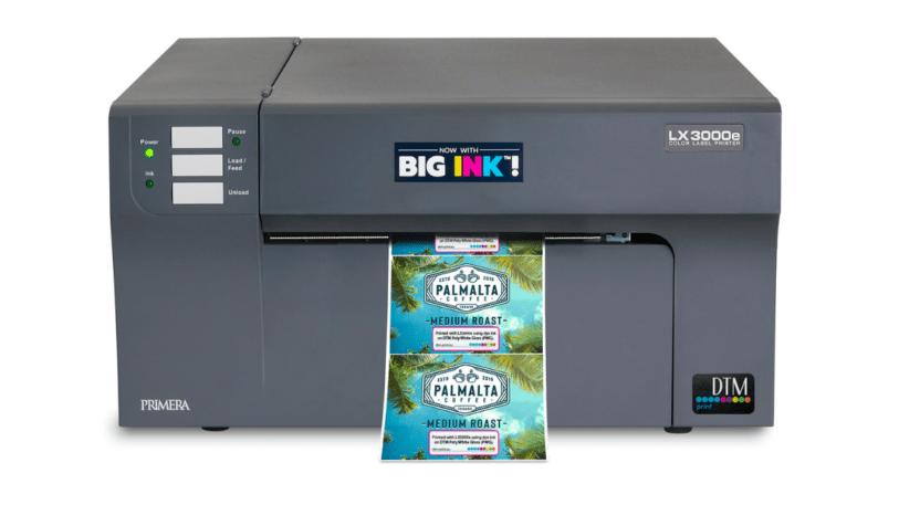 Farbetikettendrucker von DTM mit Big Ink System