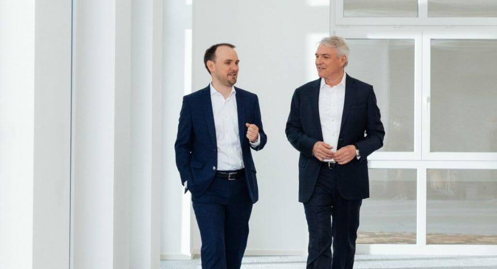 Maximilian Heindl und Jürgen Heindl, beide im Progroup-Vorstand