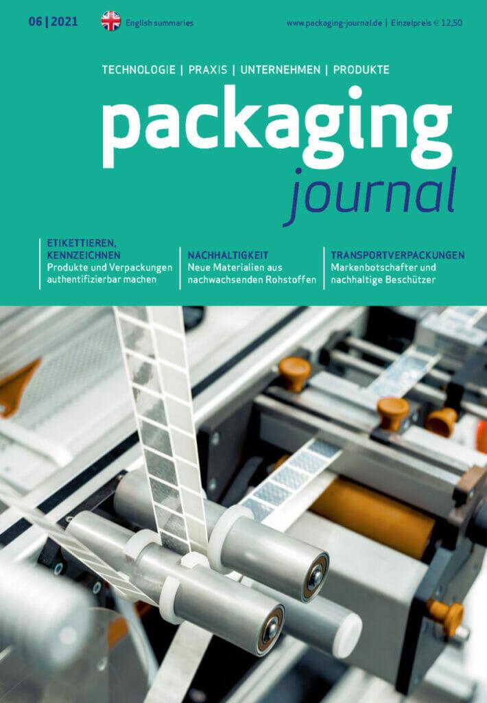 Titelbild packaging journal Augustausgabe 2021