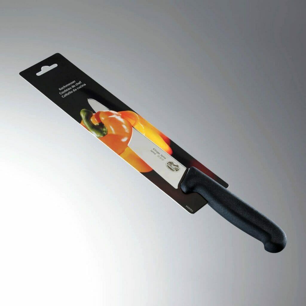 Eine erste kunststofffreie Verpackung wurde als NurPack bereits 1988 für Küchenmesser eines bekannten Schweizer Herstellers gefertigt.