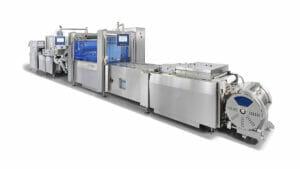 GEA setzt auf Laser-Kennzeichnungssysteme: hier die GEA PowerPak PLUS Anlage mit integriertem Laser-Kennzeichnungssystem