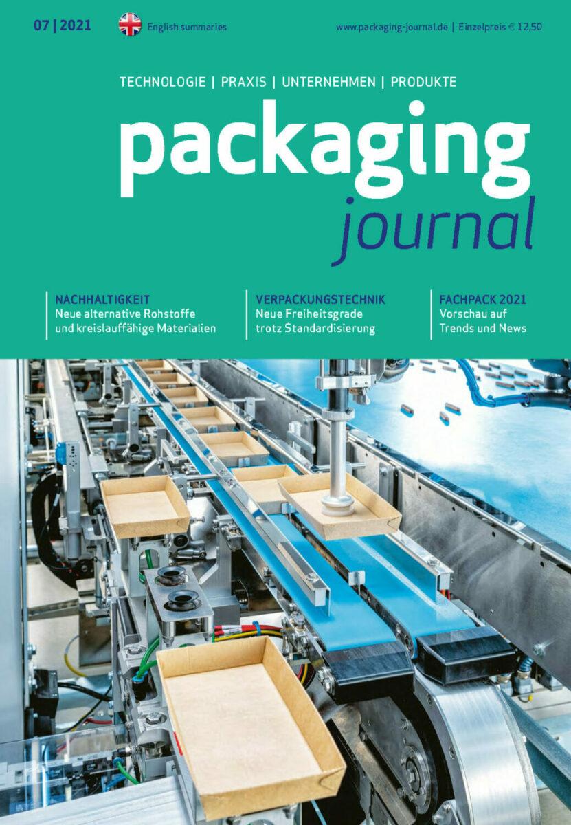 Titelbild packaging journal Septemberausgabe 2021