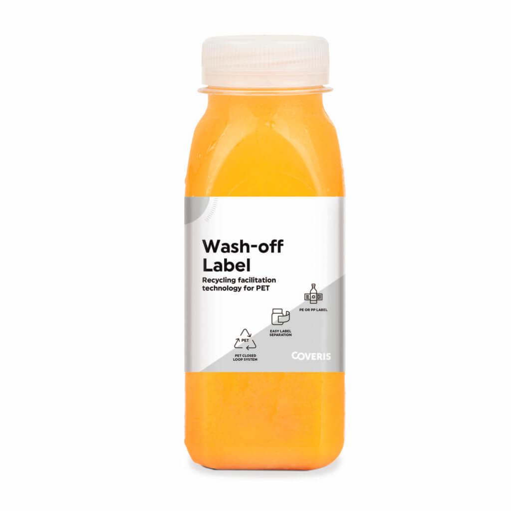 Coveris wash off label