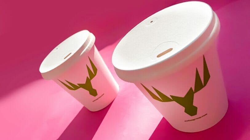 Neuer recycelbarer Kartondeckel für Getränke