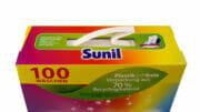 Mit der Umstellung auf einen Papiertragegriff sind die Großgebindepackungen von Sunil komplett aus Monomaterial.