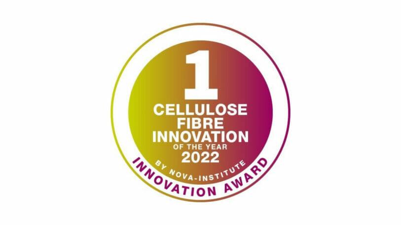 Die Plakette der Cellulose Fibre Innovation of the year 2022