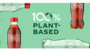 Coca cola Flaschenprototyp 100% pflanzenbasiert