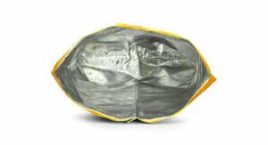 Eine leere Chips-Verpackung